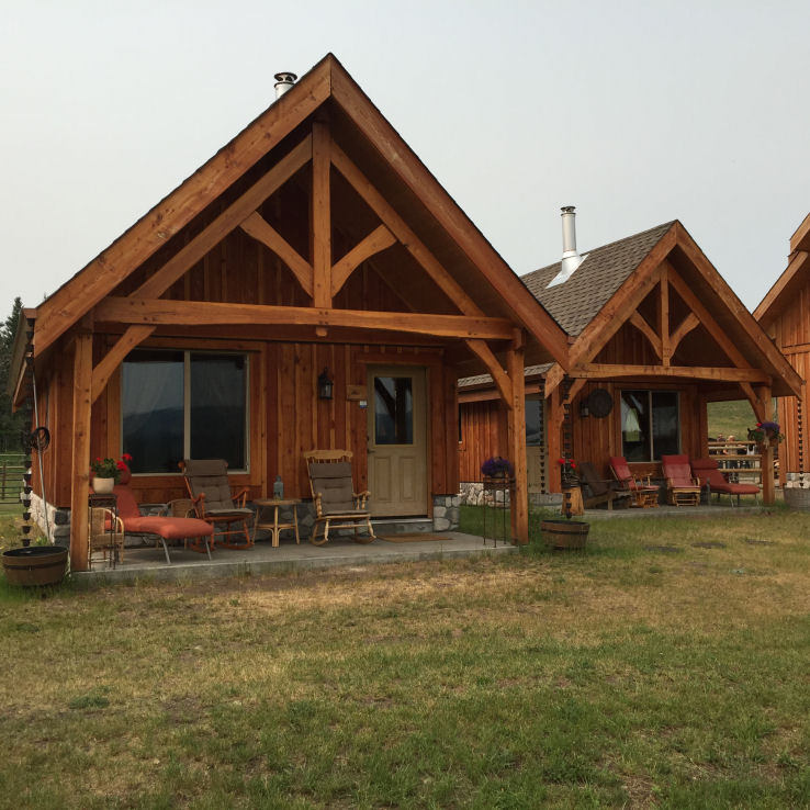 Sips cabins at campbell hills guest ranch bc canada for Sip cabins
