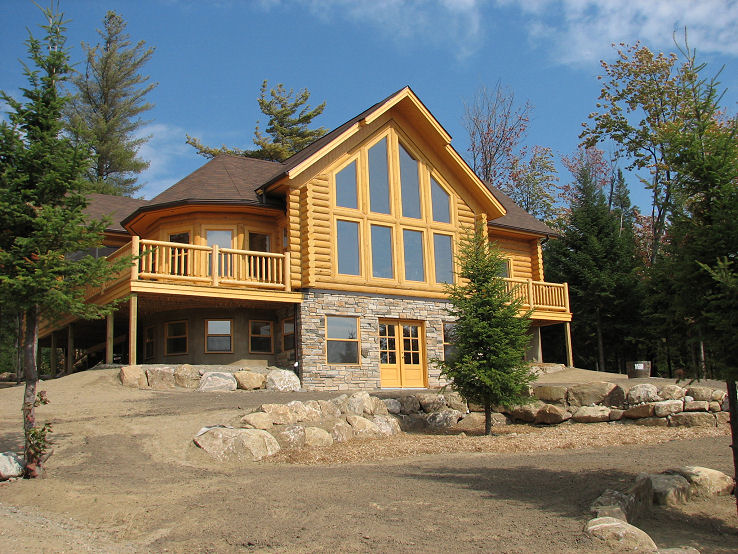 Log home photo kamloops bc canada for Canadian log cabins