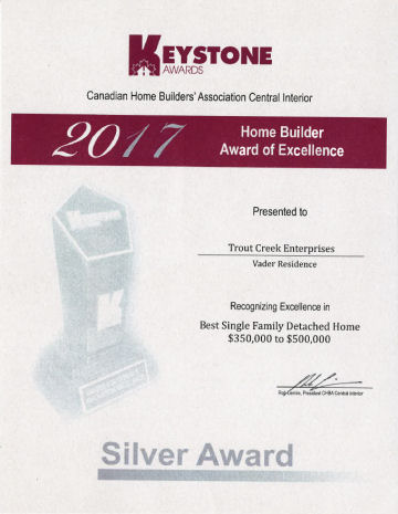 Silver Award Best Single Family Detached Home $350,000–$500,000
