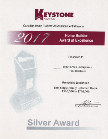 Silver Award Best Single Family Detached Home $500,000–$750,000