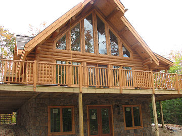 Log home construction for Log home plans with basement